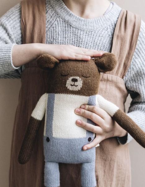 Main Sauvage Teddy groß hellblau