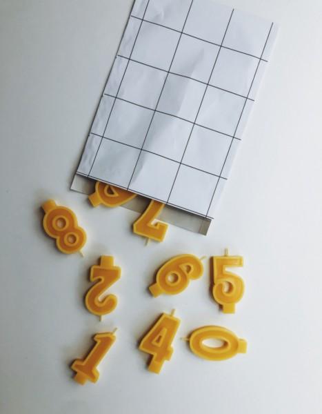 Geburtstags Honigkerze Zahl