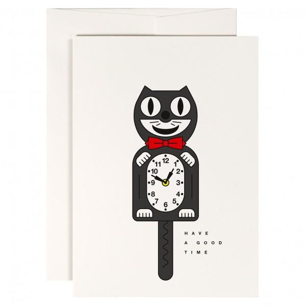 redfries crazy cat Klappkarte mit Umschlag