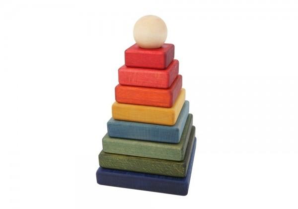 Woodenstory Steckpyramide Regenbogen