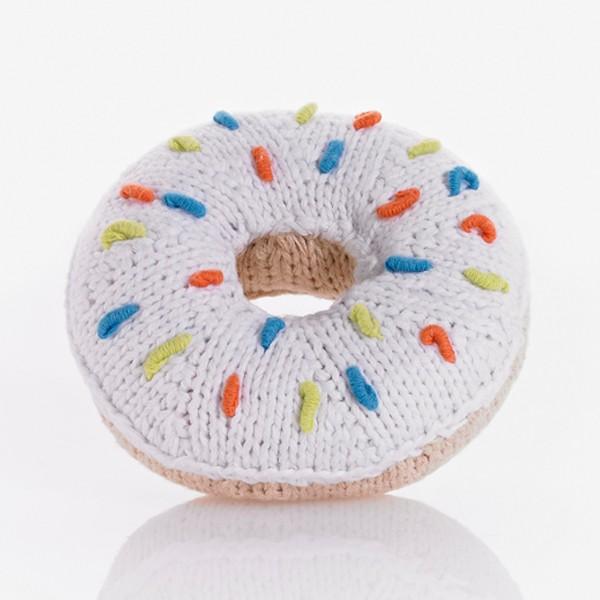 Pebble Donut Rassel mit bunten Streuseln