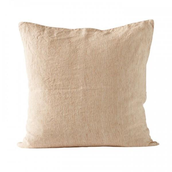Tine K Home Pin Stripe Leinen Kissen Bezug ecru rust 60 x 60