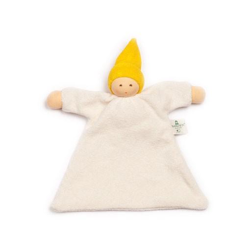 Nanchen Natur Schnuffeltuch Wichtel Gelbe Mütze