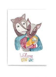 Frau Ottilie - Postkarte Welcome Little One