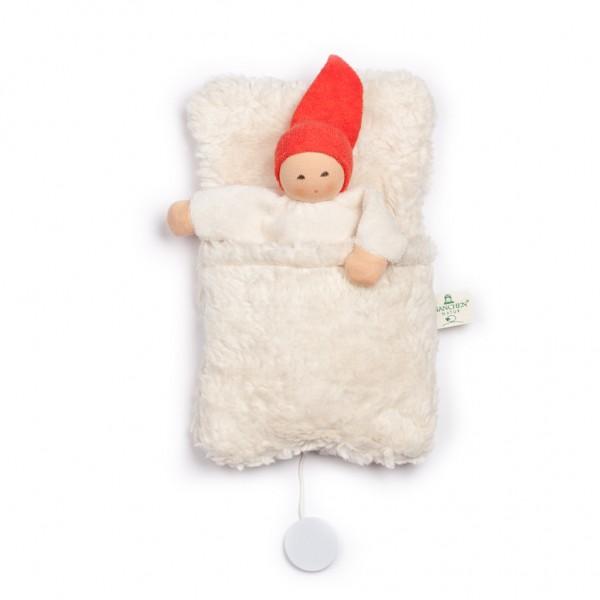 Nanchen Natur Spieluhr Wichtel im Schlafsack