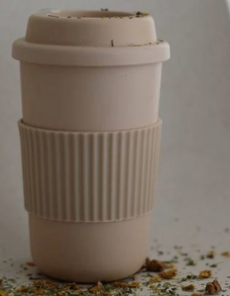 Cink Takeaway Coffee mug Rye aus Bambus Gemisch