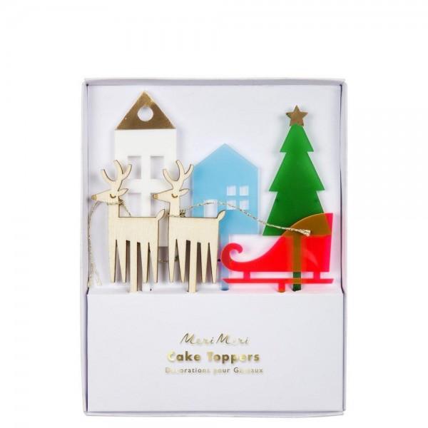 Meri Meri Cake Topper Weihnachten