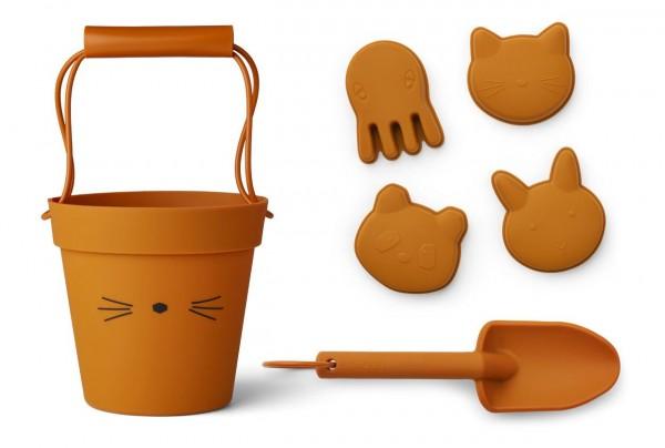 LIEWOOD Sandspielzeug Cat mustard