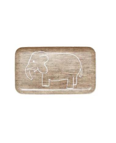 Fog Linen Tablett Klein Elefant beige
