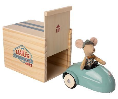 Maileg Maus mit Auto und Garage