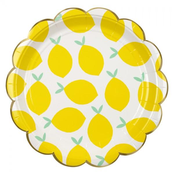 Meri Meri Pappteller Zitronen 8 er Set