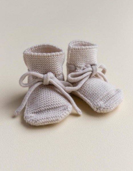 Hvid Strick Booties off- white