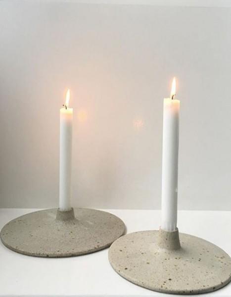 Viki Weiland Kerzenhalter groß grau