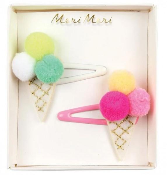 Meri Meri Pompom Ice Cream Haarspangen