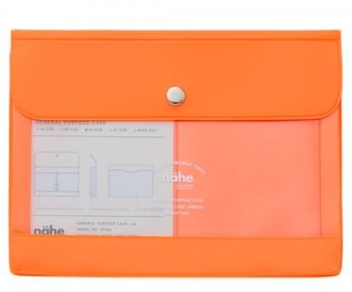 Nähe Portemonnaie neon orange