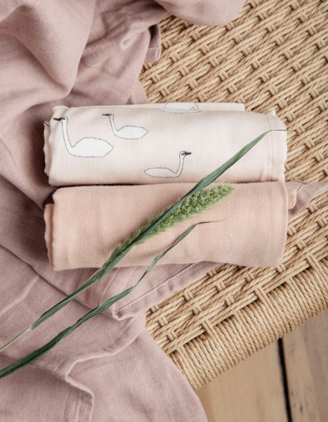 ferm LIVING Muslin Tücher Set Swan