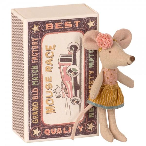 Maileg Maus kleine Schwester in der Schachtel