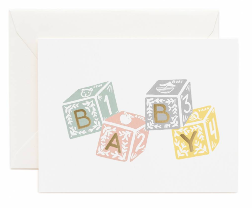 Karte Baby Blocks