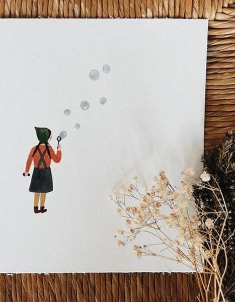Tijana Draws Print Bubble Girl