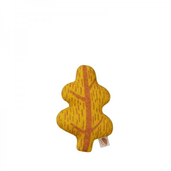 Donna Wilson Kissen Blatt Mini Mustard