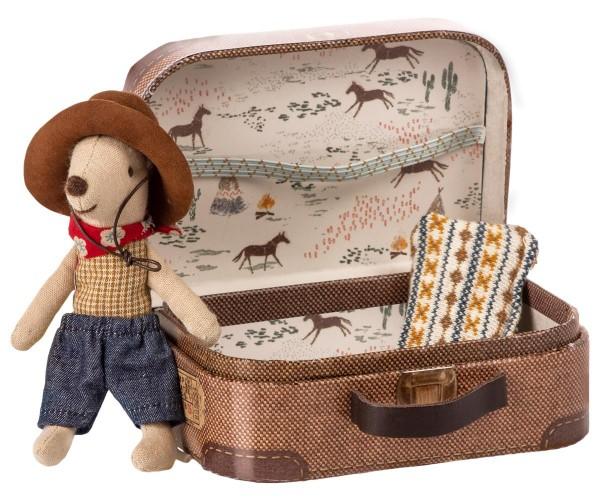 Maileg Maus Cowboy mit Koffer