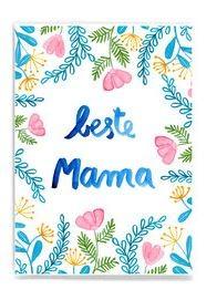 Frau Ottilie - Postkarte beste Mama