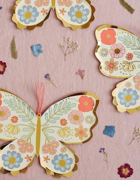 Meri Meri Floral Butterfly Teller