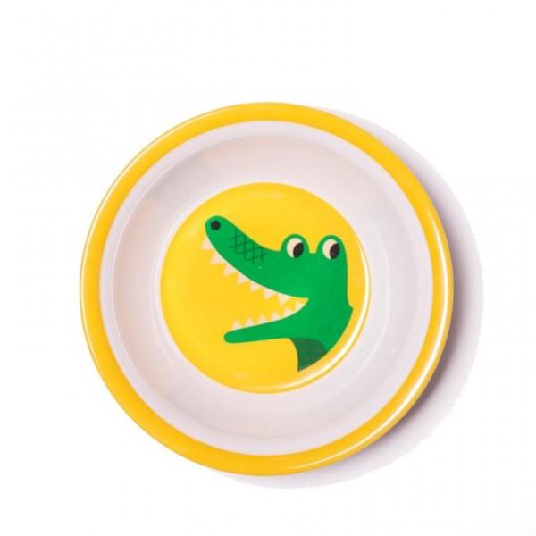 Omm Design Schale Krokodil gelb