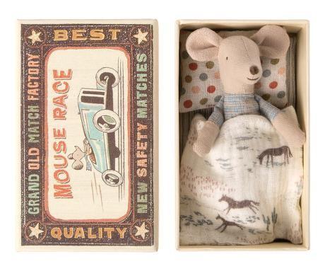 Maileg Maus kleiner Bruder mit Schachtel