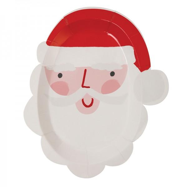 Meri Meri Pappteller Santa Set 8