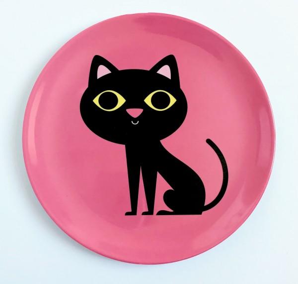 Omm Design Teller Katze pink