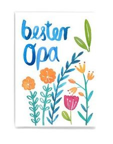 Frau Ottilie - Postkarte Bester Opa