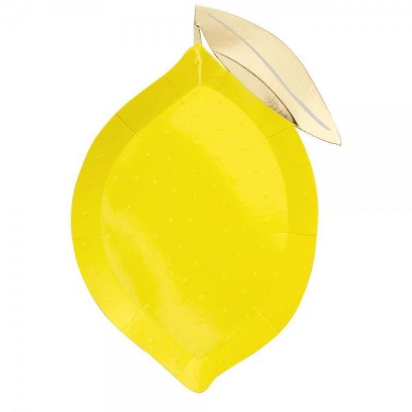 Meri Meri Pappteller Zitronenform 8 er Set