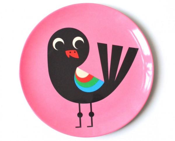 Omm Design Teller Vogel pink