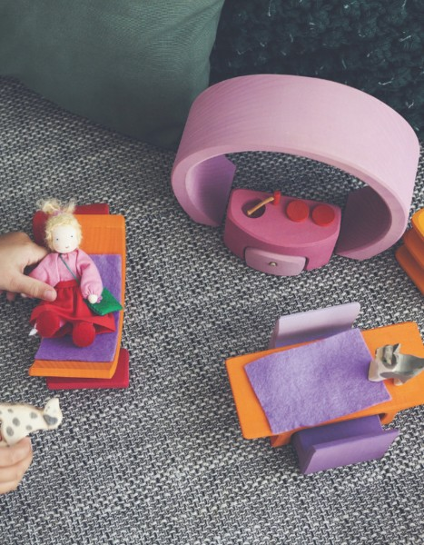 Grimm´s Puppenhaus rosa orange